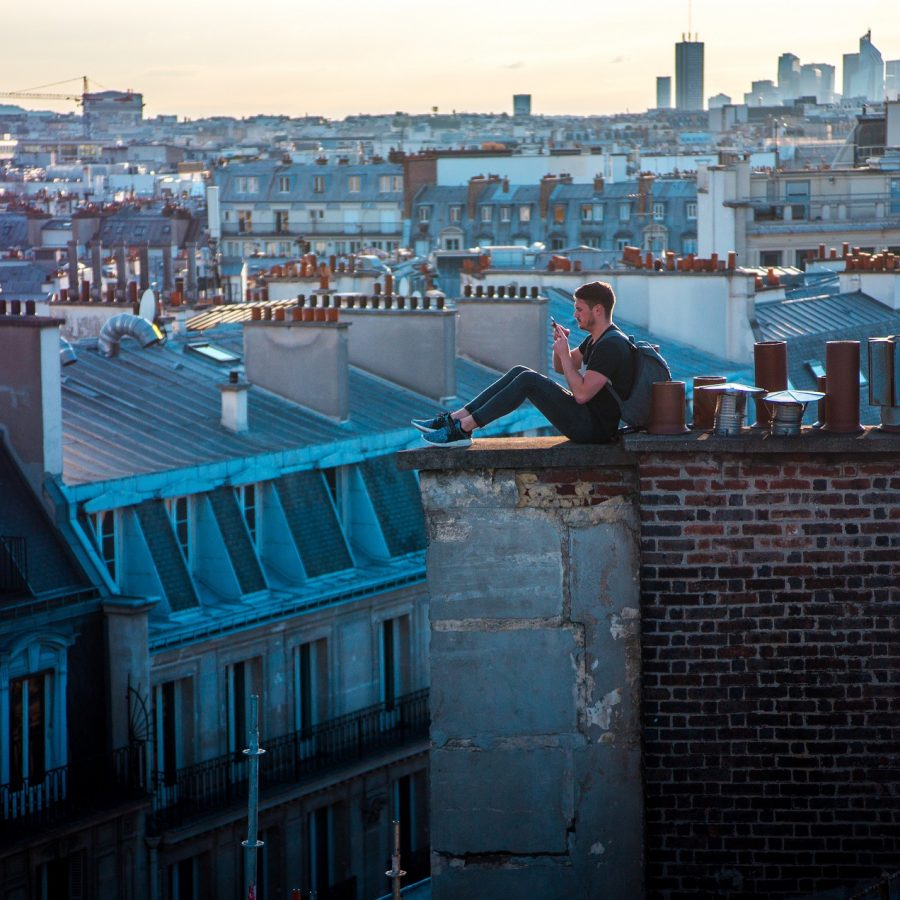 Man on a Parisian Rooftop.jpg  (Reduced size).jpg
